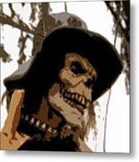 Cowboy Skeleton Metal Print