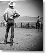 Cowboy Stance Metal Print