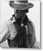Cowboy Turning Metal Print