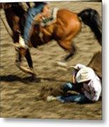 Cowboy's Grip Metal Print