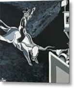Cowboy's Halloween Rodeo Metal Print