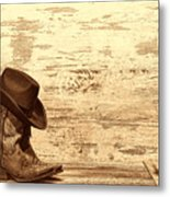 Cowgirl Boots Metal Print