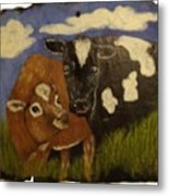 Cow's Metal Print