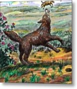 Coyote Joy Metal Print