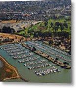 Coyote Point Marina San Francisco Bay Sfo California Metal Print