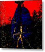Coyote Rock Metal Print
