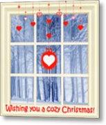 Cozy Christmas Card Metal Print