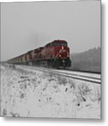 Cp Rail 2 Metal Print by Stuart Turnbull