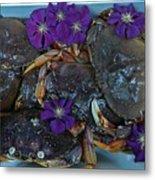 Crab Feed Metal Print