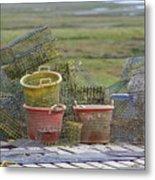 Crab Pots And Baskets Metal Print