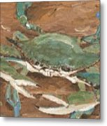 Crab Season Metal Print