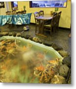Crab Shack Japanese Style Metal Print