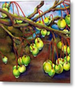 Crabapple Dew Metal Print