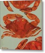 Crabs Tonight Metal Print
