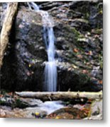 Crabtree Falls In Fall Metal Print