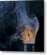 Cracked Bulb Metal Print