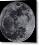 Cracked Moon Metal Print