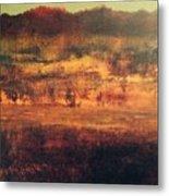 Cranberry Fields In November Metal Print