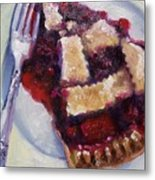 Cranberry Raisen Pie         Metal Print