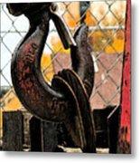 Crane Hook Metal Print