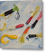 Crappie Lures Metal Print