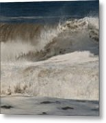 Crashing - Jersey Shore Metal Print