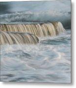Crashing Sea Waves And Small Waterfalls Metal Print