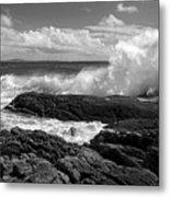 Crashing Wave Roundstone Ireland Metal Print