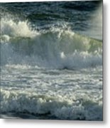 Crashing Wave Metal Print by Sandy Keeton