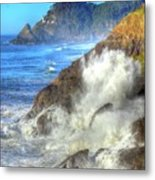 Crashing Waves 100 Metal Print