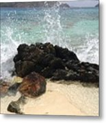 Crashing Waves At Sugar Beach Metal Print