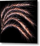 Grass Curve Metal Print