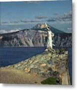 Crater Lake - A Most Sacred Place Among The Indians Of Southern Oregon Metal Print by Christine Till