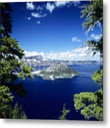 Crater Lake Metal Print by Allan Seiden - Printscapes