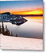 Crater Lake Dawn Metal Print