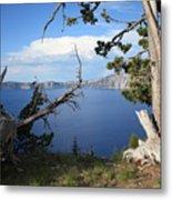 Crater Lake Perspective Metal Print