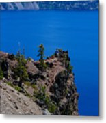 Crater Lake Point Overlook Metal Print