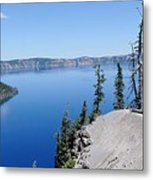 Crater Lake Scenic Panorama Metal Print