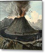 Crater Of Mount Vesuvius, Before 1767 Metal Print