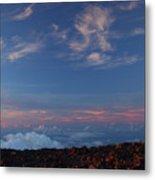 Crater Sunset Metal Print