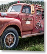 Crawford Fire Truck  Metal Print