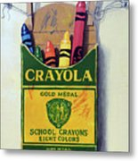Box Of Crayons Painting Metal Print