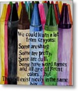Crayons Metal Print