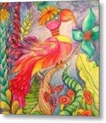Crazy Bird 1 Metal Print