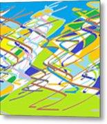 Crazy Colors Metal Print