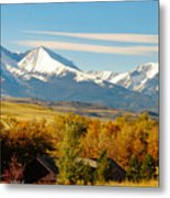 Crazy Mountain Homestead Metal Print