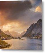Crazy Sunset In Lofoten Metal Print