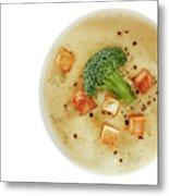 Cream Of Broccoli Soup Metal Print