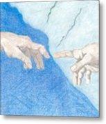 The Creation Hands Sistine Chapel Michelangelo Metal Print
