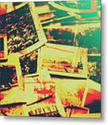 Creative Retro Film Photography Background Metal Print